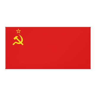 Communist Russia Flag USSR Canvas Print