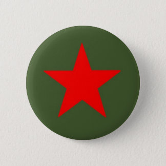Communist Star 2 Inch Round Button