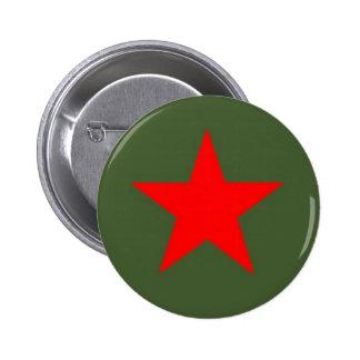 Communist Star 2 Inch Round Button
