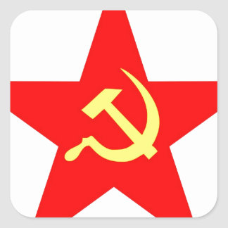 Communist star square sticker