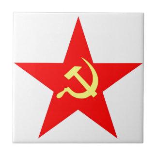 Communist star tile