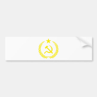 Communiste Cold War Flag Bumper Sticker