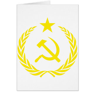 Communiste Cold War Flag Card