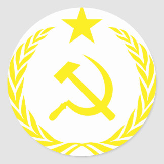 Communiste Cold War Flag Classic Round Sticker