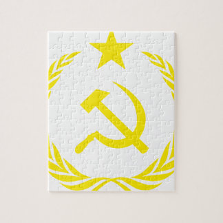 Communiste Cold War Flag Jigsaw Puzzle