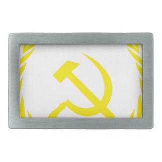 Communiste Cold War Flag Rectangular Belt Buckle