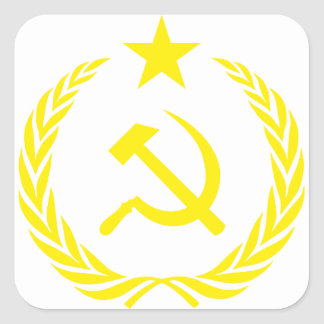 Communiste Cold War Flag Square Sticker