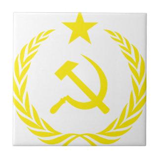 Communiste Cold War Flag Tile