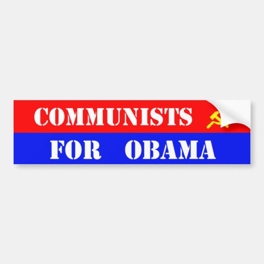 Communists for obama bumper sticker
