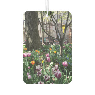 Community Garden Spring Tulip Flowers NYC Floral Air Freshener