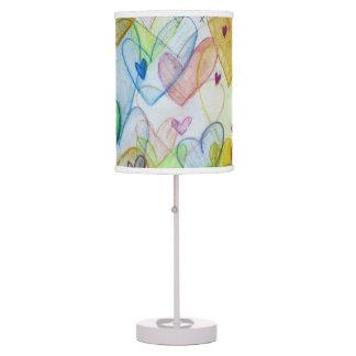 Community Hearts Colour Art Custom Table Lamp