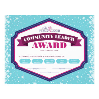 Community Leader Award Flyer