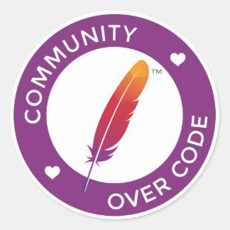 Community over Code Classic Round Sticker