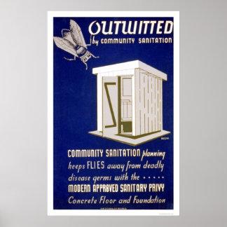 Community Sanitation 1940 WPA Poster