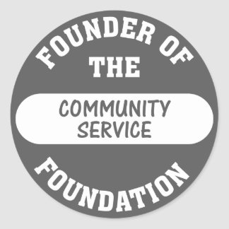 Community service starts with me as the foundation round sticker