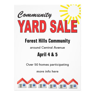 Community Yard Sale custom text flyer