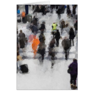 Commuter Art Abstract Card