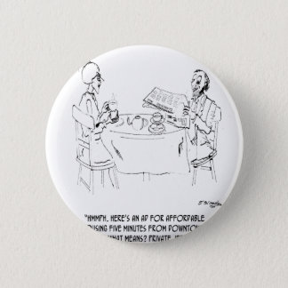 Commuting Cartoon 1098 2 Inch Round Button