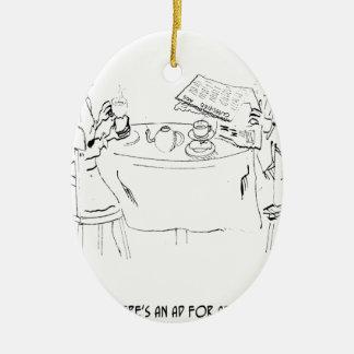 Commuting Cartoon 1098 Ceramic Ornament