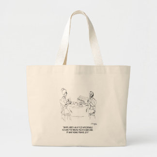 Commuting Cartoon 1098 Large Tote Bag
