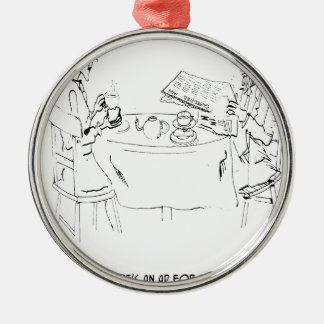 Commuting Cartoon 1098 Metal Ornament