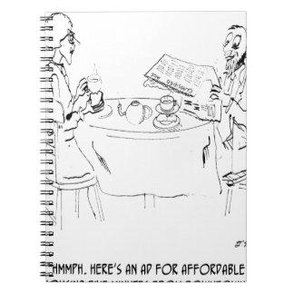 Commuting Cartoon 1098 Notebook