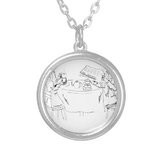 Commuting Cartoon 1098 Silver Plated Necklace