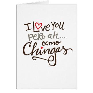 Como Chingas Spanglish greeting card