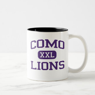 Como - Lions - Como High School - Fort Worth Texas Two-Tone Coffee Mug