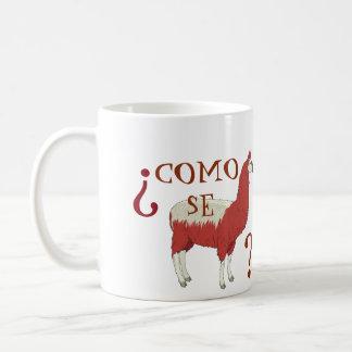 Como Se Llama Mug with Llama Image