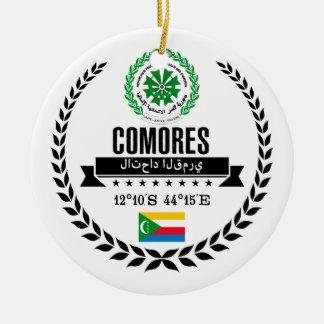 Comoros Ceramic Ornament
