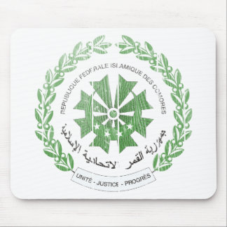 Comoros Coat Of Arms Mouse Pad