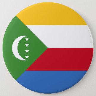 Comoros Flag 6 Inch Round Button