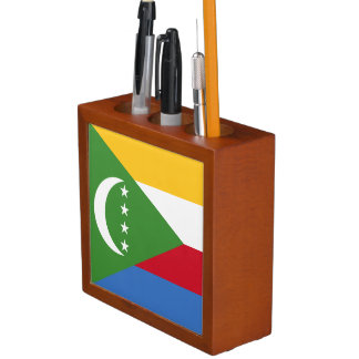 Comoros Flag Desk Organizer