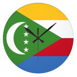 Comoros Flag Large Clock