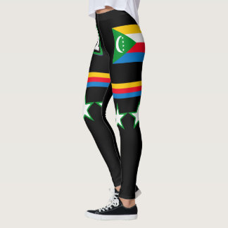 Comoros Flag Leggings