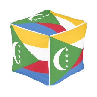 Comoros Flag Pouf