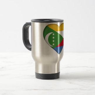Comoros Flag Travel Mug