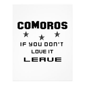 Comoros If you don't love it, Leave Customized Letterhead