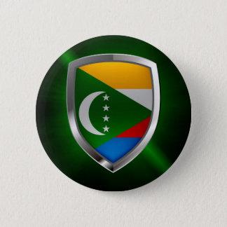 Comoros Mettalic Emblem 2 Inch Round Button