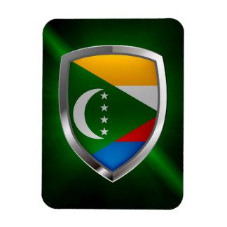 Comoros Mettalic Emblem Magnet