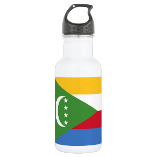 Comoros National World Flag 532 Ml Water Bottle