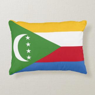 Comoros National World Flag Accent Pillow