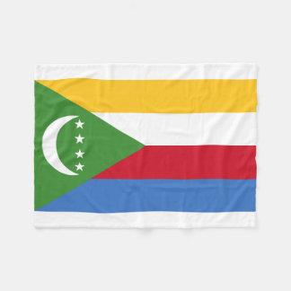 Comoros National World Flag Fleece Blanket