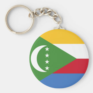 Comoros National World Flag Keychain