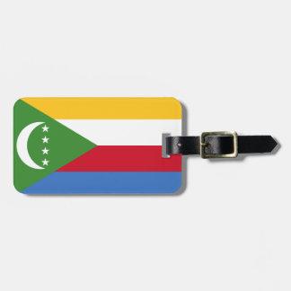Comoros National World Flag Luggage Tag