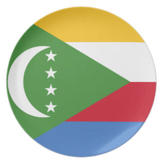 Comoros National World Flag Party Plates