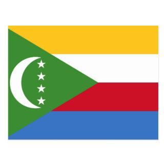 Comoros National World Flag Postcard