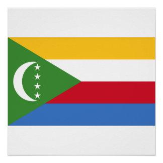 Comoros National World Flag Poster