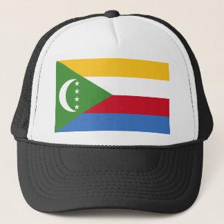 Comoros National World Flag Trucker Hat